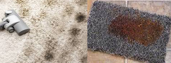 unwanted rough and colored stains Remove from Carpet