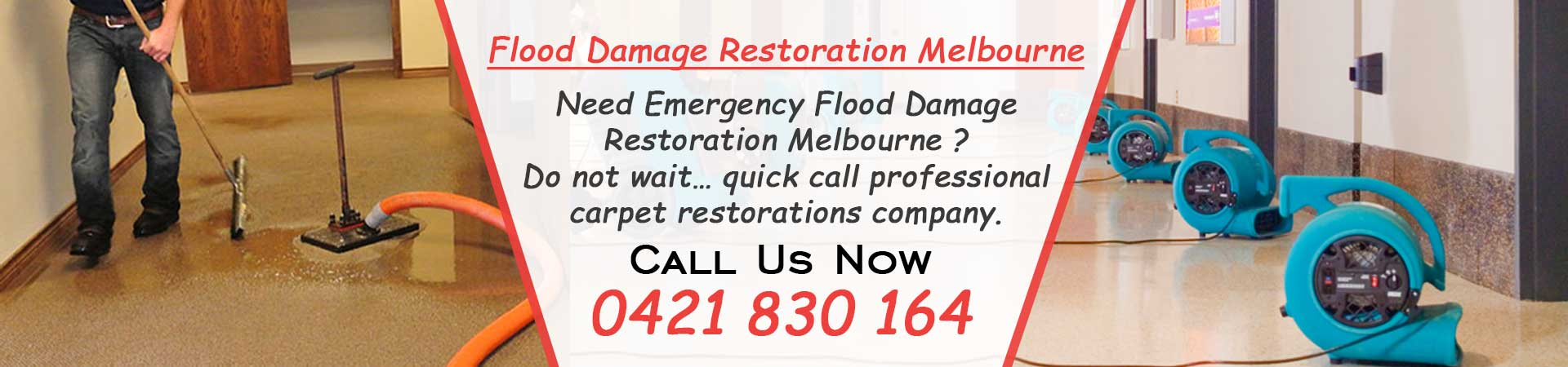 Flood Damage Restoration Slider