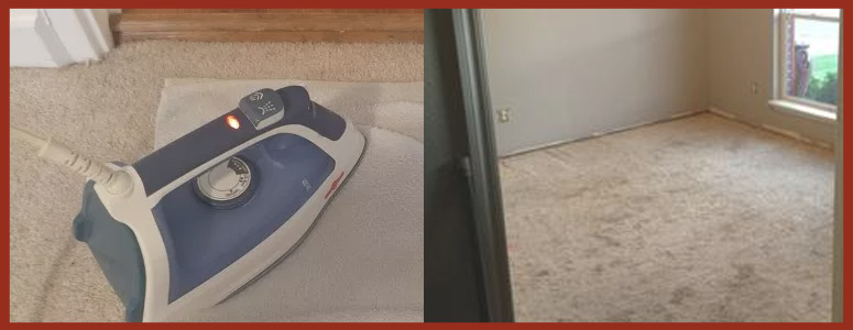 Carpet Stain Removal Using Clothing Iron