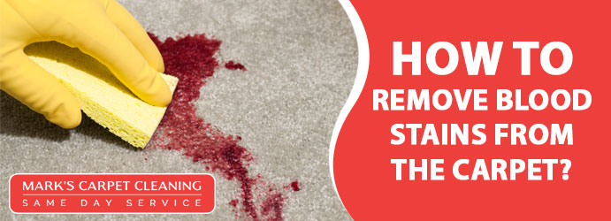 Remove Blood Stains from the Carpet
