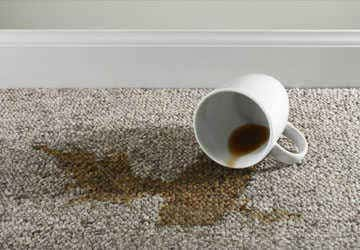 Coffee or tea carpet stains removal