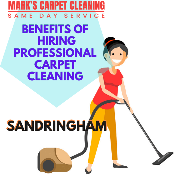 benefits of hiring Marks carpet cleaning Sandringham