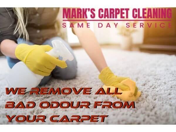 remove bad odor from carpet