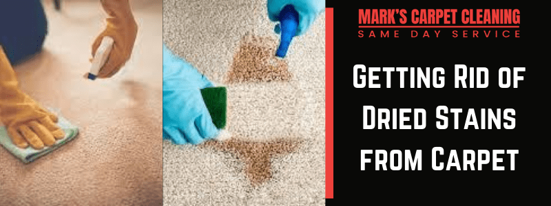 Getting Rid of Dried Stains from Carpet